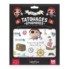 60 tatouages éphémères Pirate - Quand je serai grand(e) par Isabelle Kessedjan