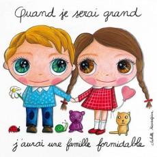 Tableau Famille Formidable - Quand je serai grand(e) - Isabelle Kessedjian