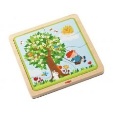 Puzzle en bois Ma saison préférée - Haba