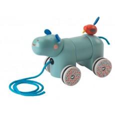 Hippopotame à tirer Les Papoum - Moulin Roty