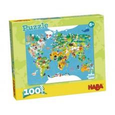 Puzzle Carte du monde - Haba