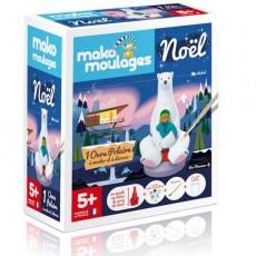 """Coffret Moulages Edition de Noël """"Ours Polaire M.Z"""" - Mako Créations"""