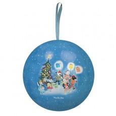 Boule en métal bleue 10 cm - La Grande Famille -  Moulin Roty