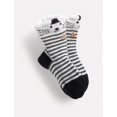 TITO Socquettes rayées grises Les Petits Habits Il était une fois printemps - été 2018 - Moulin Roty