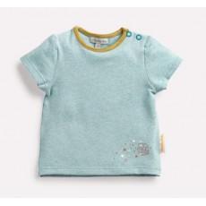 TAKA Tee-shirt bleu chiné Les Petits Habits Il était une fois printemps - été 2018 - Moulin Roty