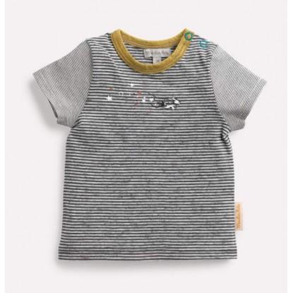 TISON Tee-shirt rayé étoiles Les Petits Habits Il était une fois printemps - été 2018 - Moulin Roty