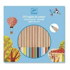 24 crayons de couleur - Djeco