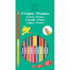 12 crayons doubles - 24 couleurs - Djeco
