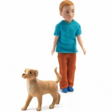 Figurines - Xavier et son chien - Djeco