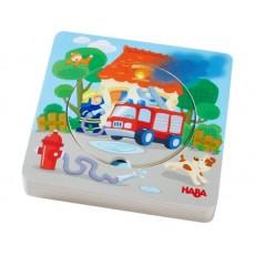 Puzzle en bois Pompiers - Haba
