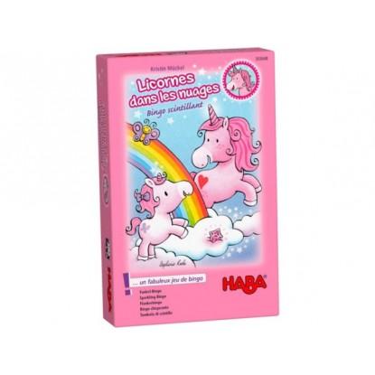 Licornes dans les nuages - Bingo scintillant - Haba