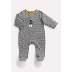 THALES Pyjama gris rayé Les Petits Habits Il était une fois printemps - été - Moulin Roty