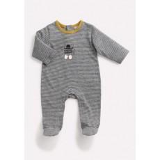 THALES Pyjama gris rayé Les Petits Habits Il était une fois printemps - été 2018 - Moulin Roty