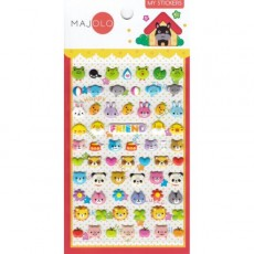 Stickers têtes d'animaux - Majolo