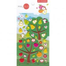 Stickers pommes et poires - Majolo