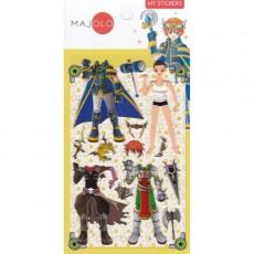 Stickers chevalier du Zodiaque jaune - Majolo
