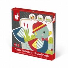 Puzzle 3 Niveaux Canards - Janod
