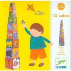 Cubes à empiler - Rigolos - Djeco