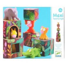 Cubes à empiler - Maxi Topanijungle - Djeco