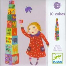 Cubes à empiler - Nature & animaux - Djeco