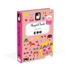 Magnéti'book Crazy Faces Fille - Janod