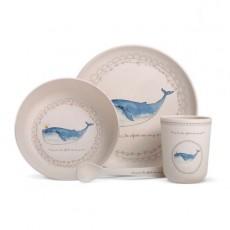 Coffret vaisselle Bambou Baleine - Les Enfants Rois