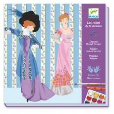 Feutres pinceaux - Les robes au fil du temps - Djeco