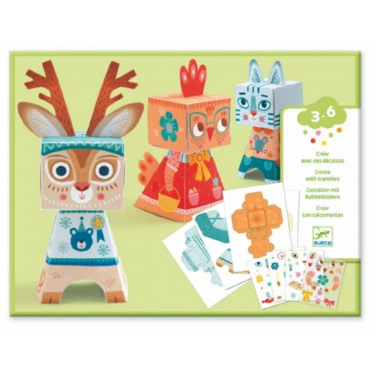 Décalqués Animaux Jouet Toys Djeco Paper De Famille 453jLARq