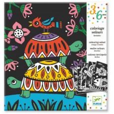 Coloriage velours - Bestioles - Djeco