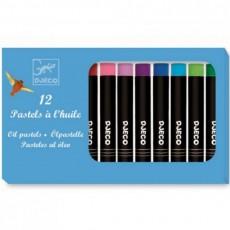 Les couleurs - 12 Pastels à l'huile - Classique - Djeco