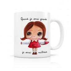 Mug céramique Maîtresse - Quand je serai grand(e) par Isabelle Kessedjian