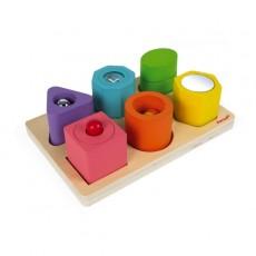 Puzzle 6 cubes sensoriels I Wood - Janod