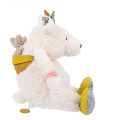 Peluche musiicale ours blanc Pom Le voyage d'Olga - Moulin Roty