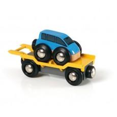 Wagon transport de voiture avec rampe - Brio