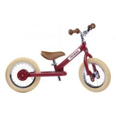 Trybike acier Vintage, Draisienne Rouge 2 roues - Trybike