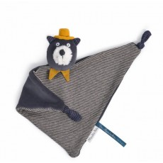 Doudou chat gris Alphonse Les Moustaches - Moulin Roty