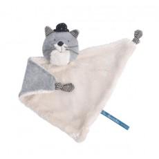 Doudou chat gris clair Fernand Les Moustaches - Moulin Roty
