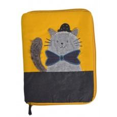 Protège carnet de santé chat gris Les Moustaches - Moulin Roty
