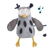 Peluche musicale hibou Les Moustaches - Moulin Roty