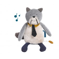 Peluche musicale Chat Les Moustaches - Moulin Roty