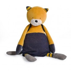 Peluche Chat géant moutarde Lulu Les Moustaches - Moulin Roty