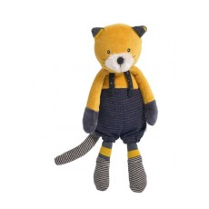 Peluche chat moutarde Lulu Les Moustaches - Moulin Roty