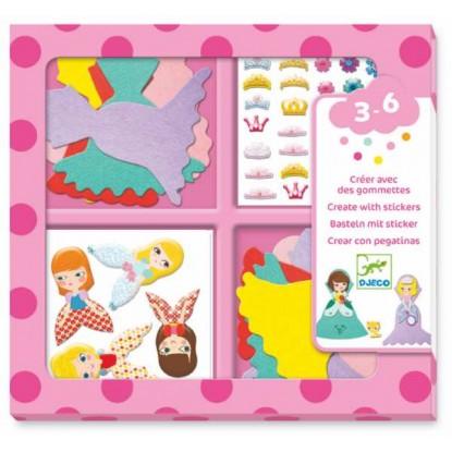 Créer avec des gommettes - J'aime les princesses - Djeco