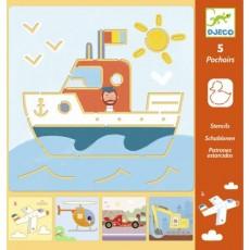 Pochoirs - Transports & Co - Djeco