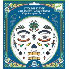 Stickers visage - Tête de mort - Djeco
