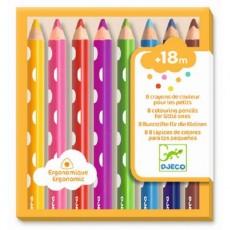 Les couleurs - 8 crayons de couleurs pour les petits - Djeco