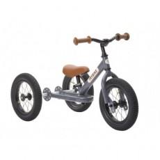 Tricycle et draisienne acier 2-en-1 gris anthracite - Trybike