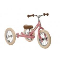 Tricycle et draisienne acier 2-en-1 Rose - Trybike