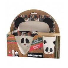 Coffret repas bambou Rototos le panda - Les Déglingos