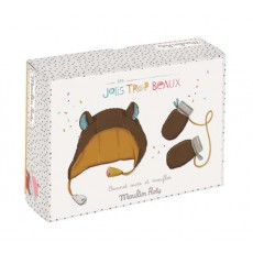 Bonnet et moufles Les Jolis trop Beaux (0-6 mois) - Moulin Roty